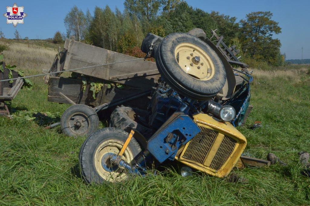 rolnictwo, rolnik, zysk rolnika, portal rolny, ciągnik, wypadek, policja, KRUS, wypadki w rolnictwie