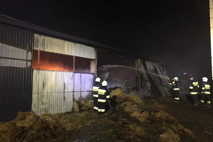pożar gospodarstwa, OSP Stary Laskowiec, OSP Rutki, Szlasy-Mieszki