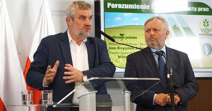 Jan Krzysztof Ardanowski, Wiktor Szmulewicz, Krajowa Rada Izb Rolniczych, ministerstwo rolnictwa, porozumienie rolnicze